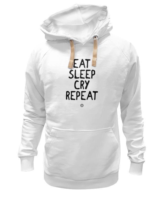Толстовка Wearcraft Premium унисекс Printio Eat cry repeat by brainy детская футболка классическая унисекс printio eat cry repeat by brainy