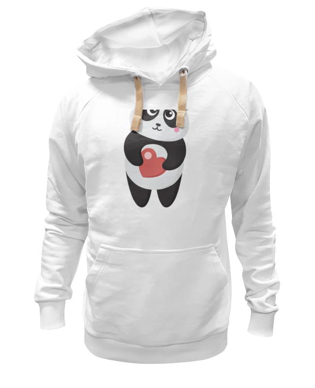 Толстовка Wearcraft Premium унисекс Printio Панда с сердечком толстовка wearcraft premium унисекс printio мамам с любовью