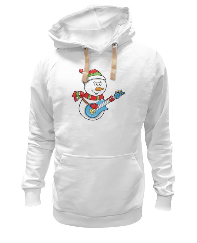 Толстовка Wearcraft Premium унисекс Printio Снеговик с гитарой толстовка wearcraft premium унисекс printio снеговик с метлой