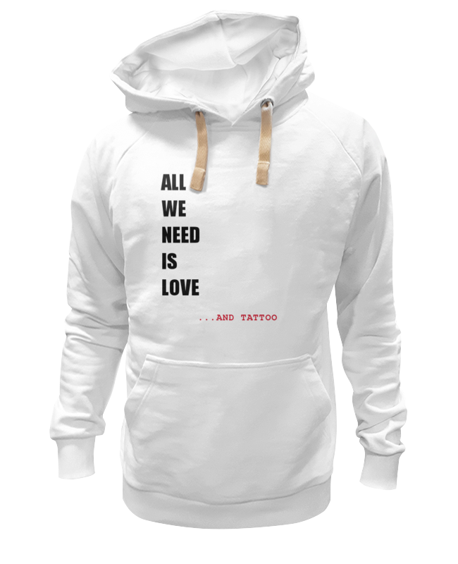 Толстовка Wearcraft Premium унисекс Printio All we need is love толстовка wearcraft premium унисекс printio all we need is love