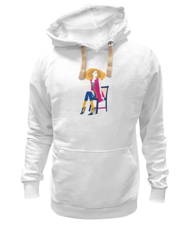 Толстовка Wearcraft Premium унисекс Printio Поп арт дизайн. красивая девушка в полосатой майке