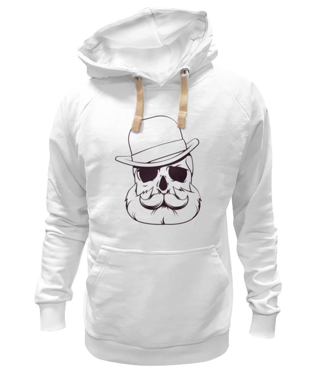 Толстовка Wearcraft Premium унисекс Printio Череп в шляпе
