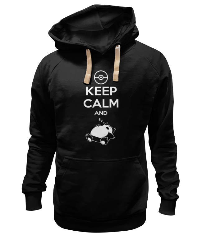 Толстовка Wearcraft Premium унисекс Printio Keep calm and zzz (pokemon) монетница zzz 26