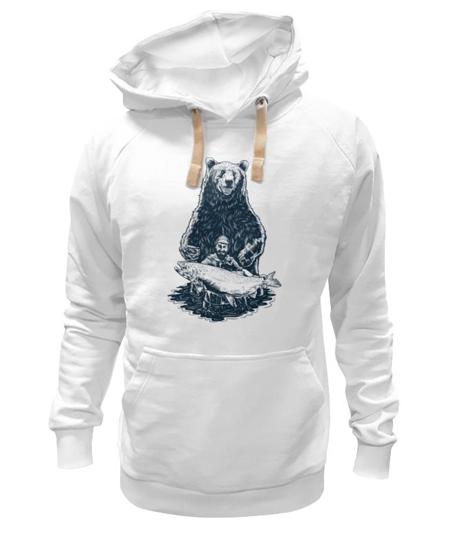 Толстовка Wearcraft Premium унисекс Printio Медвежья рыбалка цена и фото