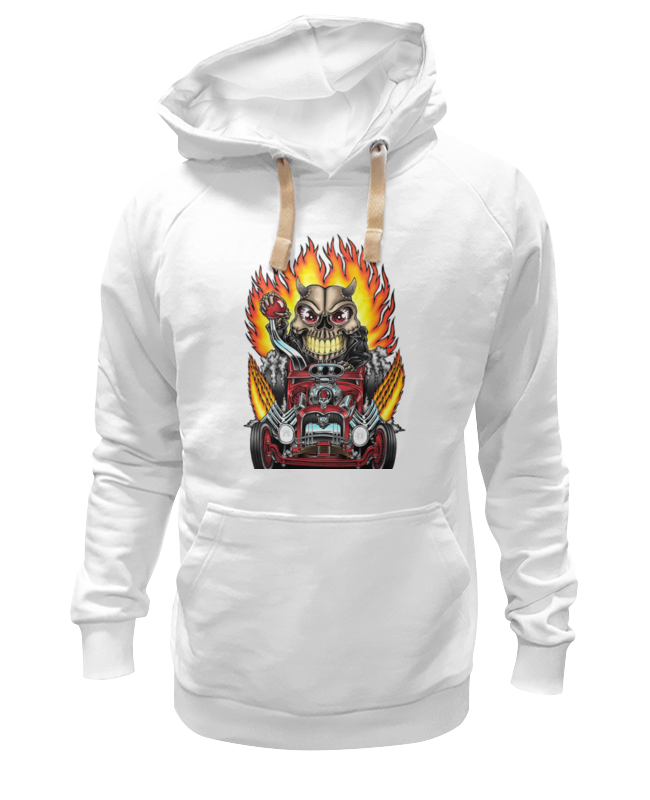 Толстовка Wearcraft Premium унисекс Printio Hot rod skull