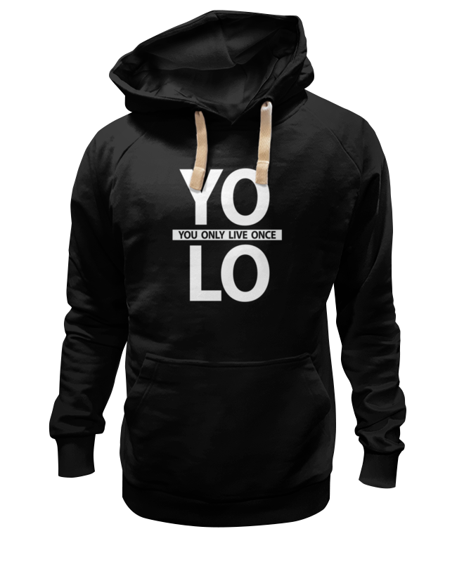 Толстовка Wearcraft Premium унисекс Printio Yolo (you only live once) футболка wearcraft premium slim fit printio yolo you only live once
