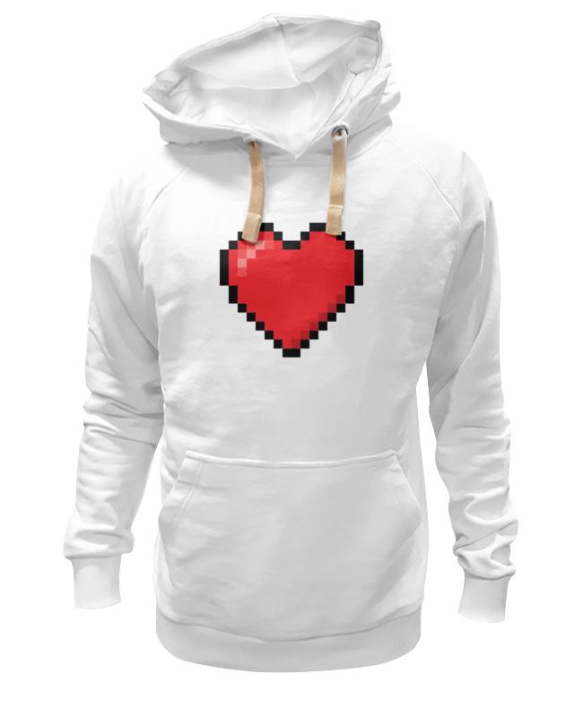 Толстовка Wearcraft Premium унисекс Printio Пиксельное сердце (8-бит) толстовка wearcraft premium унисекс printio холодное сердце