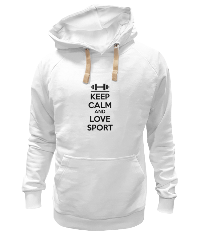 Толстовка Wearcraft Premium унисекс Printio Keep calm and love sport сумка printio keep calm and ski on