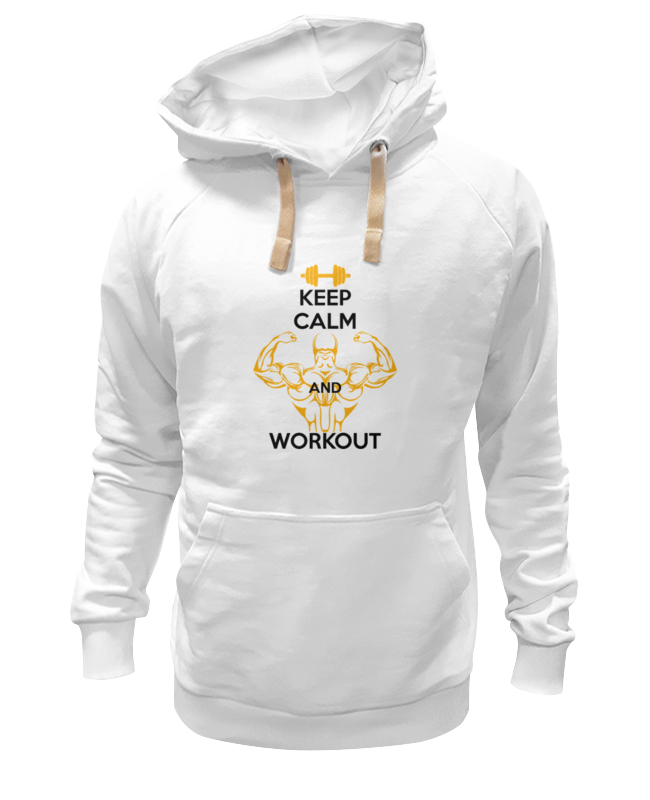 Толстовка Wearcraft Premium унисекс Printio Keep calm and workout толстовка wearcraft premium унисекс printio keep calm and carry on