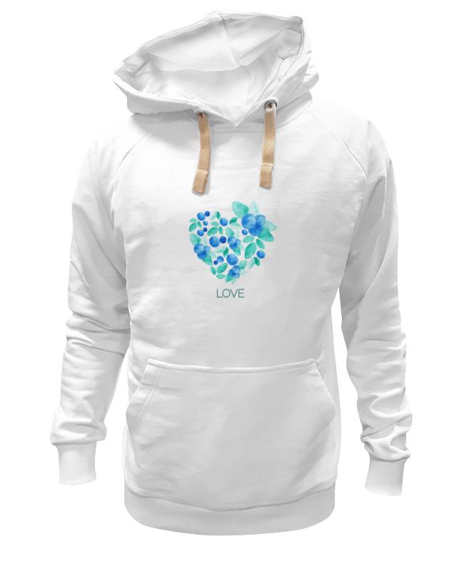 Толстовка Wearcraft Premium унисекс Printio Акварель сердце из голубики футболка классическая printio акварель сердце из голубики