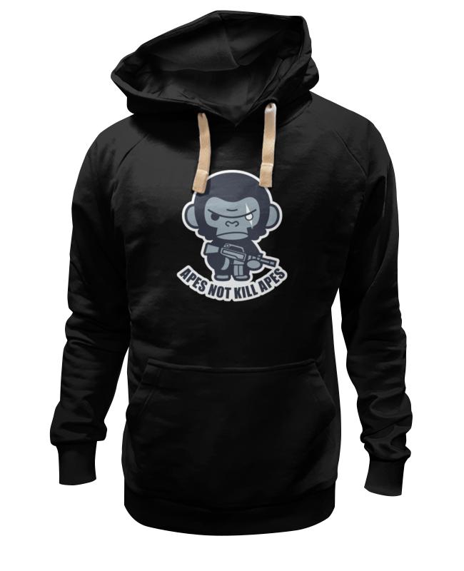 Толстовка Wearcraft Premium унисекс Printio Обезьяны не убивают (планета обезьян) футболка стрэйч printio обезьяны не убивают планета обезьян