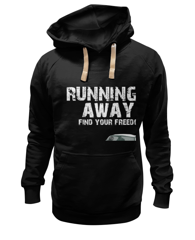 Толстовка Wearcraft Premium унисекс Printio Running away..find your freedom..автомобиль find