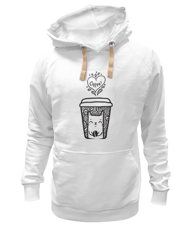 Толстовка Wearcraft Premium унисекс Printio Кофе и котик толстовка wearcraft premium унисекс printio пей кофе