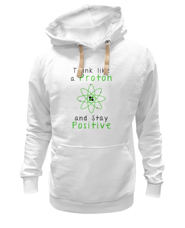 Толстовка Wearcraft Premium унисекс Printio Думай как протон - оставайся позитивным футболка рингер printio думай как протон оставайся позитивным
