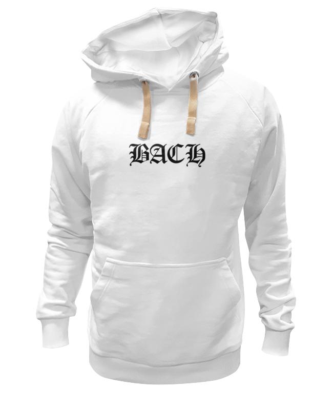 Толстовка Wearcraft Premium унисекс Printio Bach (гот. шрифт, белая) майка борцовка print bar хэлло китти гот