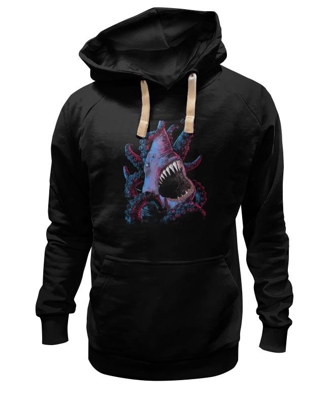 Толстовка Wearcraft Premium унисекс Printio Акула vs осьминог толстовка wearcraft premium унисекс printio octopus осьминог