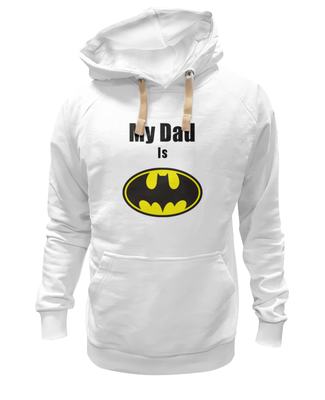 Толстовка Wearcraft Premium унисекс Printio My dad is batman сумка printio my dad is batman