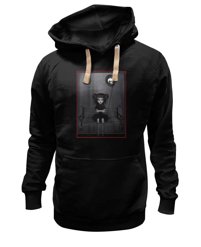 Толстовка Wearcraft Premium унисекс Printio Готика, девочка и шар цена