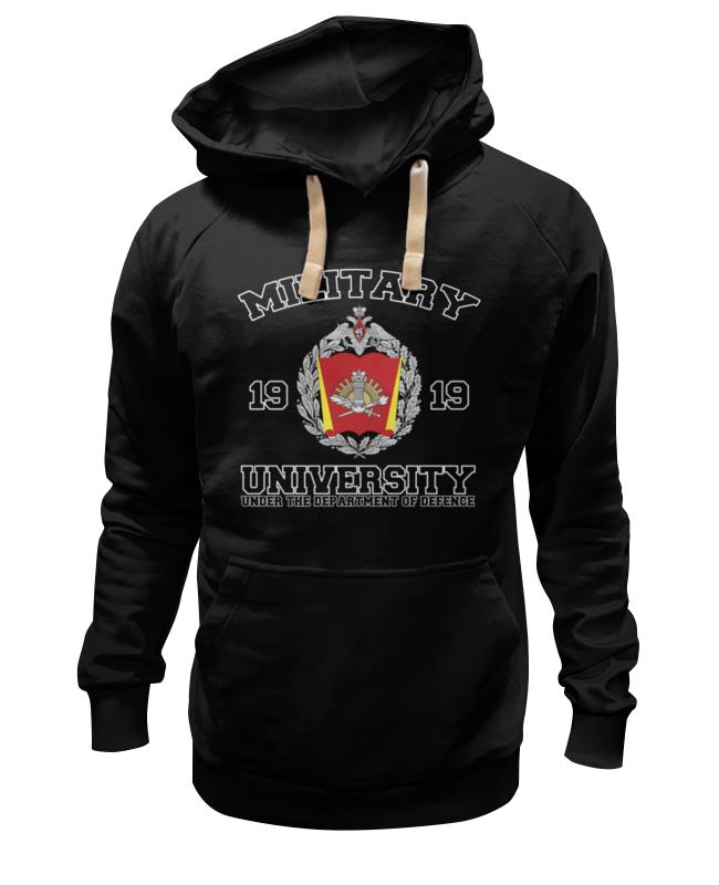 Толстовка Wearcraft Premium унисекс Printio 2016 военный университет мо рф (черная)