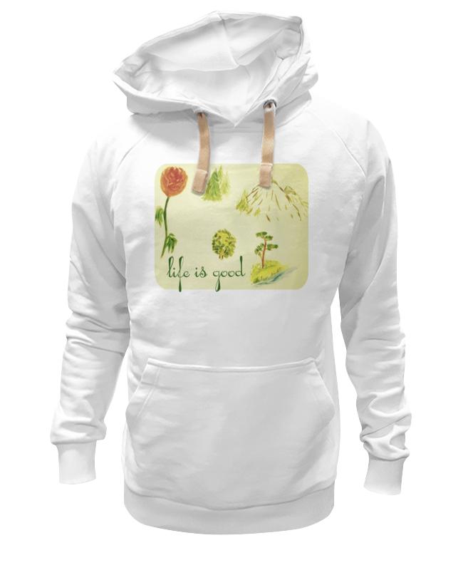 Толстовка Wearcraft Premium унисекс Printio Горы, сосны и цветы шишку сосны
