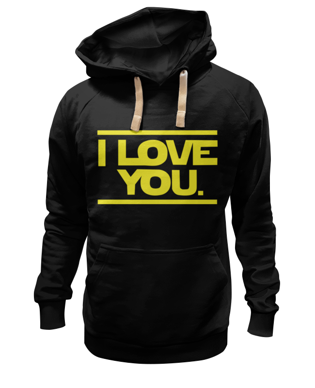 Толстовка Wearcraft Premium унисекс Printio I love you star wars футболка wearcraft premium printio i love you star wars