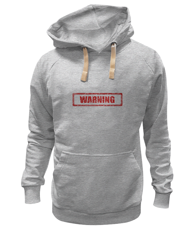 Толстовка Wearcraft Premium унисекс Printio Warning толстовка wearcraft premium унисекс printio дэдмаус
