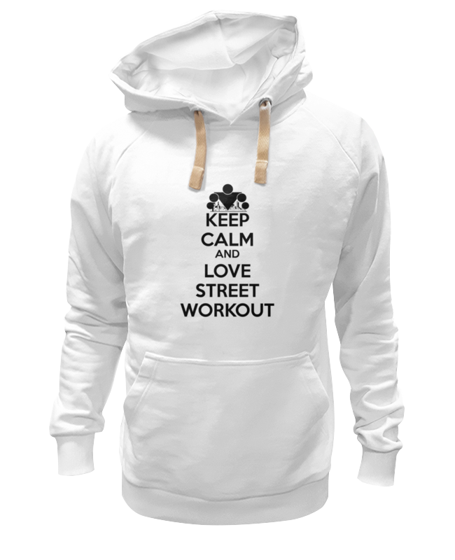 Толстовка Wearcraft Premium унисекс Printio Keep calm and love street workout цена