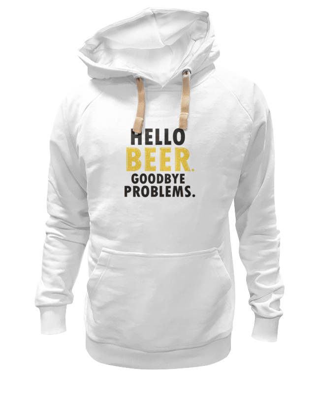 Толстовка Wearcraft Premium унисекс Printio Hello beer halloween costume accessory props beer mug hat yellow white multi colored