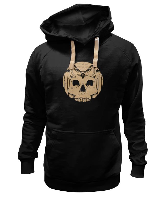 Толстовка Wearcraft Premium унисекс Printio Owl scull / сова с черепом цена