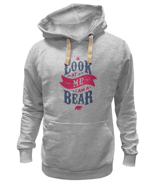 Толстовка Wearcraft Premium унисекс Printio Я медведь (i am bear) толстовка wearcraft premium унисекс printio russian bear русский медведь