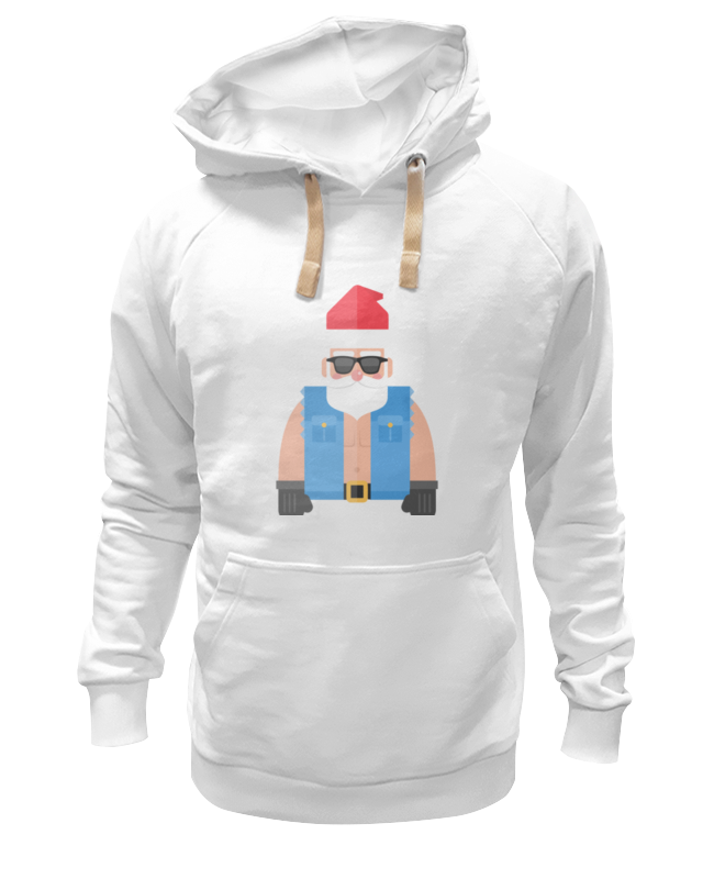 Толстовка Wearcraft Premium унисекс Printio Дед мороз-байкер толстовка wearcraft premium унисекс printio дед мороз строитель