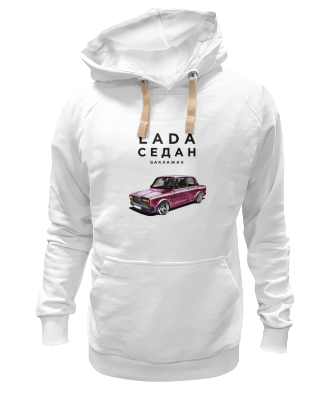 Толстовка Wearcraft Premium унисекс Printio Lada седан by design ministry футболка wearcraft premium slim fit printio lada седан by design ministry
