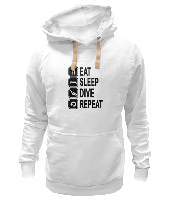Толстовка Wearcraft Premium унисекс Printio Eat sleep dive толстовка wearcraft premium унисекс printio eat sleep surf repit