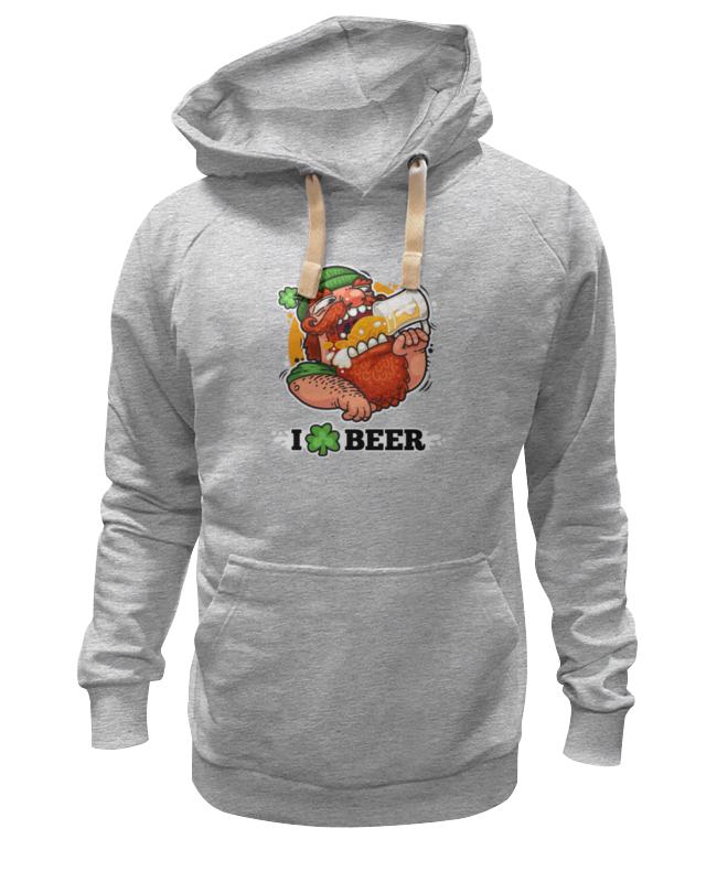 Толстовка Wearcraft Premium унисекс Printio Я люблю пиво (i love beer) beer burger