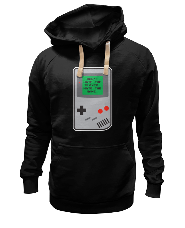 Толстовка Wearcraft Premium унисекс Printio Don't hate the player (gameboy) толстовка hate hate cat черный s