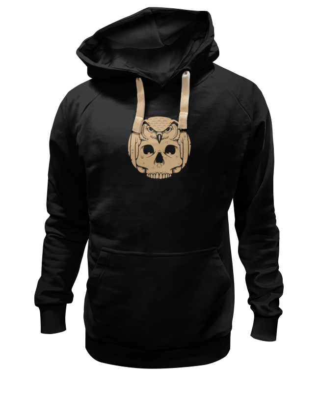 Толстовка Wearcraft Premium унисекс Printio Owl scull / сова и череп цена