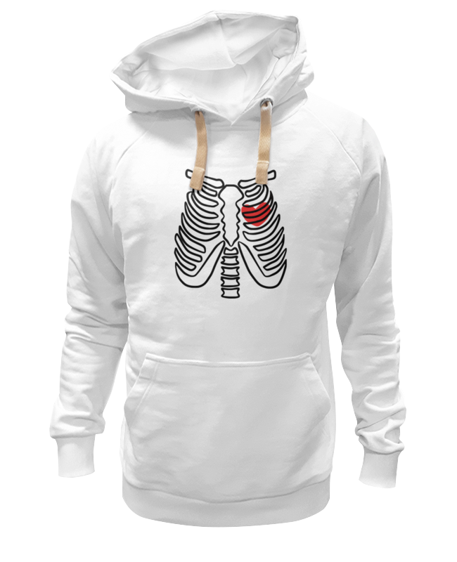 Толстовка Wearcraft Premium унисекс Printio Скелет и сердце толстовка wearcraft premium унисекс printio скелет мамонта