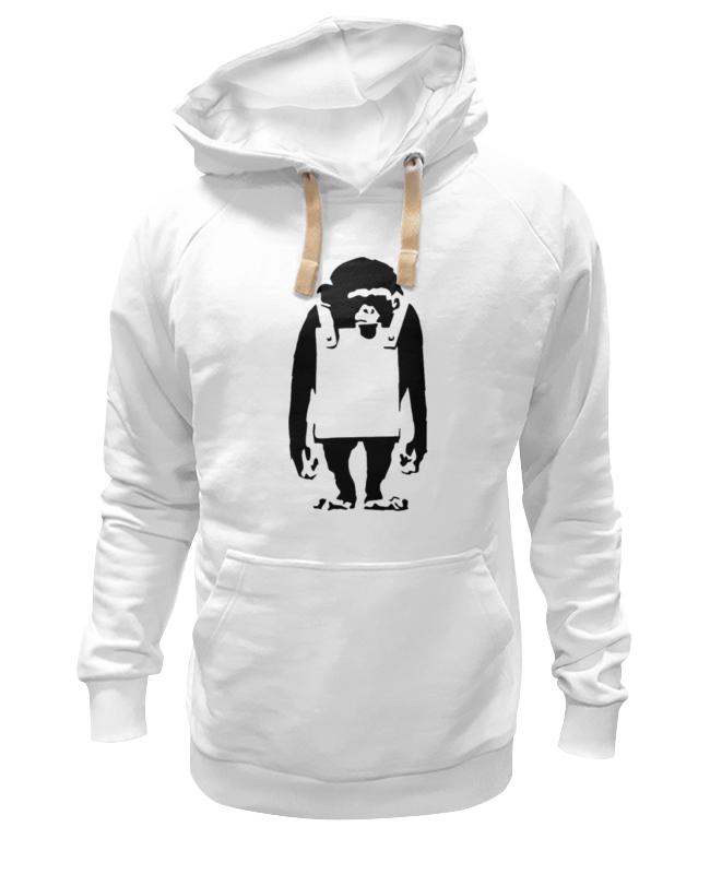 Толстовка Wearcraft Premium унисекс Printio Шимпанзе  рекламным щитом