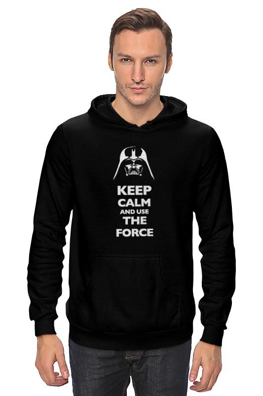 Толстовка Wearcraft Premium унисекс Printio Keep calm and use the force (star wars) футболка wearcraft premium printio keep calm