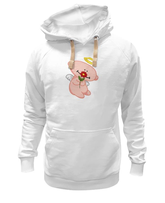 Толстовка Wearcraft Premium унисекс Printio Ангел с цветком толстовка wearcraft premium унисекс printio хорошего дня