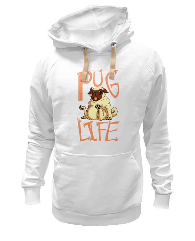 Толстовка Wearcraft Premium унисекс Printio Pug life цена и фото