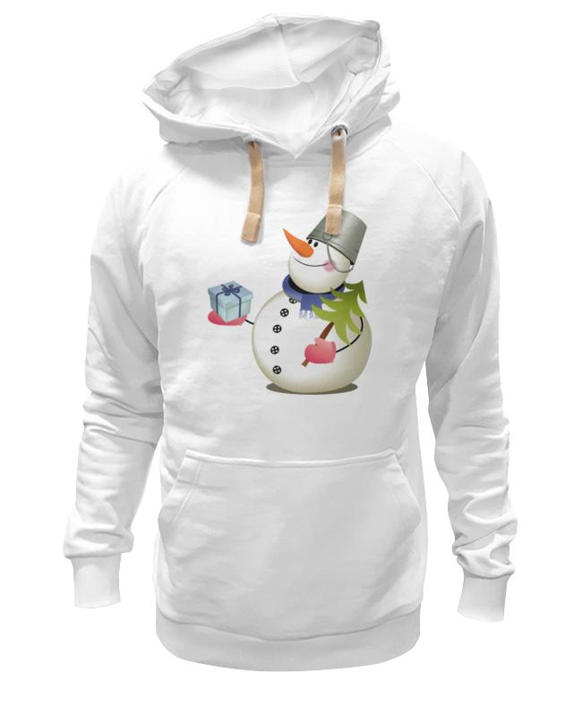 Толстовка Wearcraft Premium унисекс Printio Снеговик с сувениром.с новым годом. толстовка wearcraft premium унисекс printio снеговик с метлой