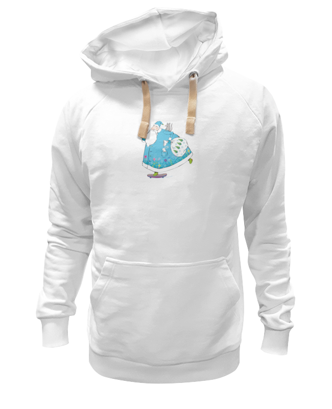 Толстовка Wearcraft Premium унисекс Printio Дед мороз на скейте ostin футболка с новогодним принтом