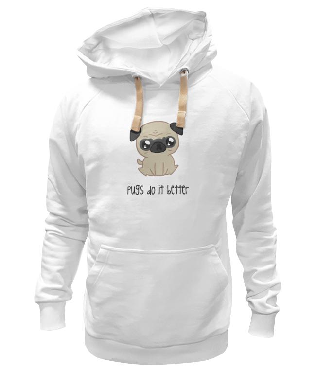 Толстовка Wearcraft Premium унисекс Printio Мопс (pug) цена и фото