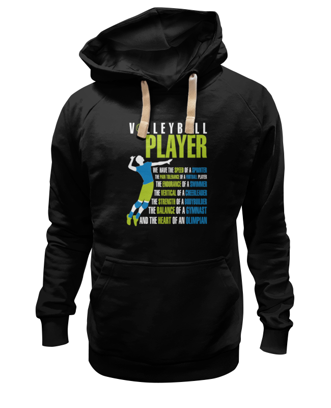 Толстовка Wearcraft Premium унисекс Printio Volleyball player футболка wearcraft premium printio volleyball player
