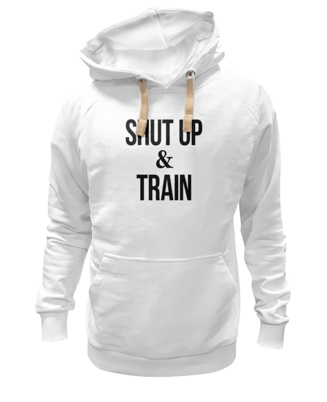 Толстовка Wearcraft Premium унисекс Printio Shut up & train – заткнись и тренируйся свитшот print bar shut up and take my money