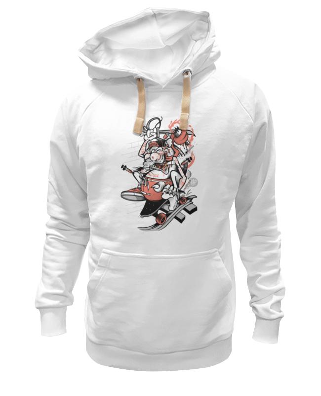 Толстовка Wearcraft Premium унисекс Printio Мышь на скейте мышь rapoo n1162 белый