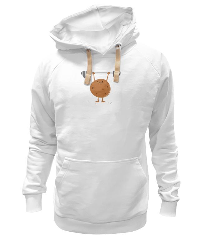Толстовка Wearcraft Premium унисекс Printio Печенько со штангой