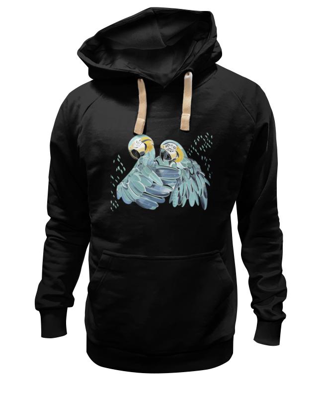 цена на Толстовка Wearcraft Premium унисекс Printio Влюбленные попугайчики