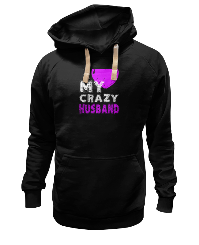 Толстовка Wearcraft Premium унисекс Printio Love my crazy husband футболка классическая printio love my crazy husband